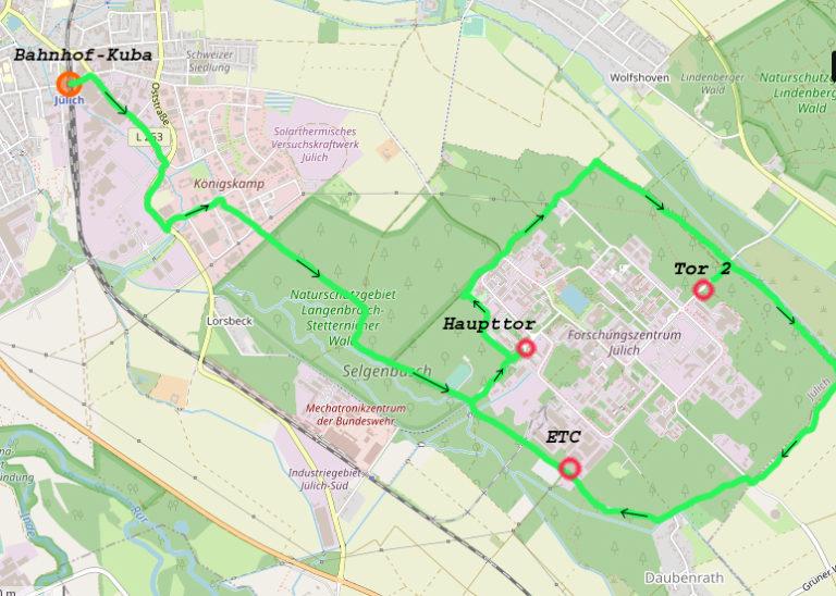 Fahradtourdemo um das FZ Jülich in Planung stand 29 Juli 2020</p> <p>Auftakt: 11 Uhr Kuba Bahnhof Jülich</p> <p>Abfahrt: 12 Uhr -14 Uhr Rundtour</p> <p>ab 13 Uhr Aufbau der Vokü am ETC.</p> <p>Beginn der Abschlußkundgebung am ETC. 14 Uhr.</p> <p>Abschluß: gegen 16 Uhr